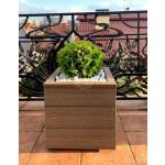 КОНТЕЙНЕР для дерев та рослин Делі з терасної дошки та металу  Д50*Ш50*В44 фото 2