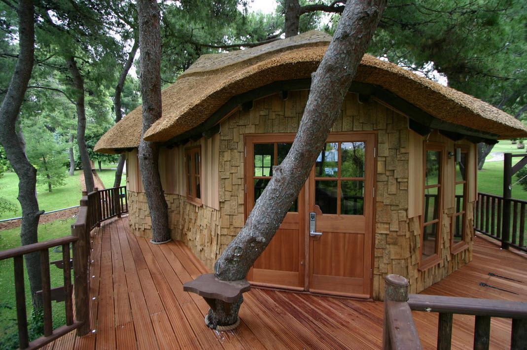 где разместить детский домик на дереве